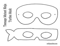 free patterns ninja turtle masks - Google Search