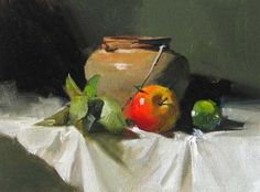 Red and Green, painting by artist Qiang Huang