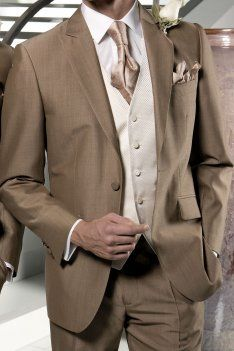Mocha- Brown Suit...might look good with a midnight blue vest