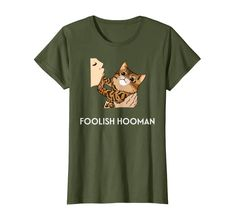 Amazon.com: Foolish Hooman Funny Cat Men and Women Gift Cat Lover T-Shirt: Clothing