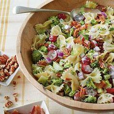 Brocoli, grape and pasta salad