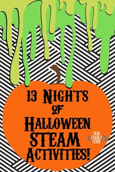 Get ready for 13 Nights of Halloween STEAM Activities with these easy to do projects! Halloween Activities For Kids, Steam Activities, Kids Learning Activities, Spring Activities, Sensory Activities, Teaching Kids, Family Activities, Toddler Activities, Toddler Crafts