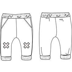 Patron de Couture PDF à télécharger. Bébé mixte. De 6 à 24 mois. Un pantalon MAILLE SWEAT ultra confortable Coupe confort Taille élastiquée pour un enfilage r