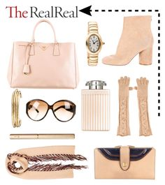 """""""Fall Style With TheRealReal: """"Contest Entry"""""""" by glamorous09 on Polyvore featuring Mode, Charriol, Gucci, Prada, Burberry, Maison Margiela, Loro Piana, Cartier, Chloé und Jennifer Fisher"""
