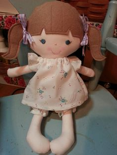RESERVED order for Kristi--a handmade cloth doll