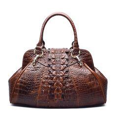 Classic Embossed Crocodile Purse Genuine Leather Ladies Handbags