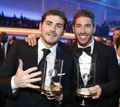 Iker Casillas and Sergio Ramos, love this picture!!