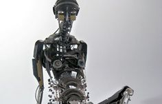 Tahoe City, Calif.-based artist Jeremy Mayer's mechanical, steampunk-esque creatures are the subject of Wired.com's latest slide show. Assembled from vintage typewriter parts without welding, soldering, or gluing, his recycled sculptures range from lithe, 18-inch-long mecha-crickets to seven-foot-tall aluminum skeletons that weigh between 60 to 100 pounds.