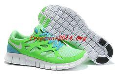 0k51fW Green Apple White Anthracite Chlorine Blue Nike Free Run 2 Mens Running Shoes