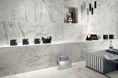 Marvel PRO è un progetto completo di pavimenti in gres porcellanato effetto marmo e di rivestimenti coordinati che estende le potenzialità...