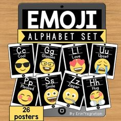 Emoji alphabet posters for classrooms, technology labs, or libraries! Each…