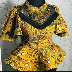 African Lace Styles, Short African Dresses, Latest African Fashion Dresses, African Print Dresses, African Print Fashion, Africa Fashion, African Blouses, African Prints, Ankara Styles