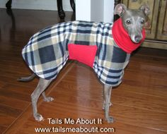 Ready to ship - Cullen double fleece dog coat - Italian greyhound, Chinese crested, Hairless breeds