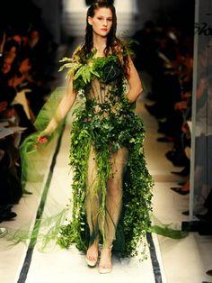 Haute Couture mit Blumen und Pflanzen! #tollwasblumenmachen