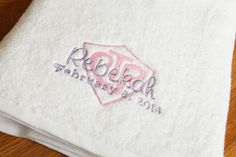 CTR Baptism Towel LDS gift Personalized Towel by DaintyCouture