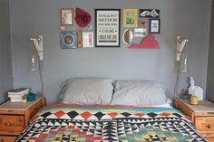 Antes e Depois: quarto de casal colorido: