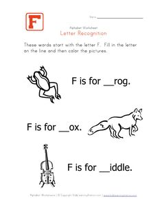 The Art Of Teaching A Kindergarten Blog Letter F Example Page
