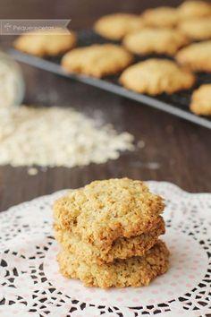 Receta de galletas de avena paso a paso - Recetas - Healthy Desserts, Delicious Desserts, Yummy Food, Easy Cookie Recipes, Sweet Recipes, Kitchen Recipes, Cooking Recipes, Sport Food, Biscuits