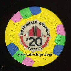 Atlantic City Casino Chip of the day is a $20 Boardwalk Regency 1st issue you can order here http://www.all-chips.com/ChipDetail.php?ChipID=17831