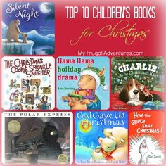 Top 10 Children's books for Christmas + a few extras for fun gifts.  Pick these up to read every night before Christmas for a fun new holiday tradition.