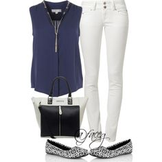 """#catofashions Great set showing off CATO Aztec flats!  """"Whiblue"""" by faceg on Polyvore"""