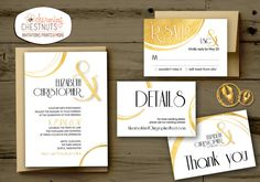 Modern WHITE and GOLD Wedding Invitation Set, Classic gold, Printable wedding invite, digital wedding invitations, Modern white and gold