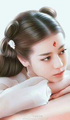 Phượng Cửu Chinese Culture, Chinese Art, Fantasy Paintings, Fantasy Art, Eternal Love Drama, Peach Blossoms, Deviant Art, Kawaii, Ulzzang Girl