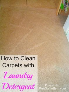 Carpet Cleaner with laundry detergent