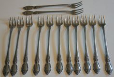 Vintage Oneida Oyster Forks by AmyFindsEverything on Etsy