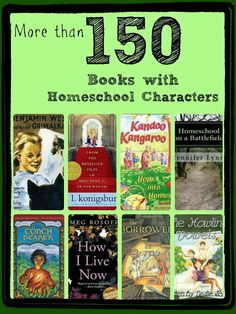More than 150 books with homeschool characters