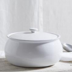 Porto Stoneware Casserole Pot from The White Company