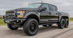 Hennessey VelociRaptor 6x6 Is America's Answer To Mercedes-AMG G63 6x6 #Ford #Ford_F_150