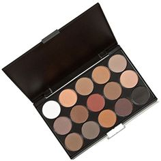 Eyeshadow Palette - CalorMixs 15 Colors Waterproof Smoky Natrual Naked Make up Eye shadow Kit Eyebrow Mineral Powder kit (15 Colors) -- For more information, visit image link. (This is an affiliate link) #Eyeshadow