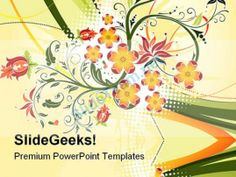 Grunge Flower Background Design PowerPoint Templates And PowerPoint Backgrounds 0611 #PowerPoint #Templates #Themes #Background