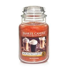 Mocha Nut Latte : Large Jar Candle : Yankee Candle