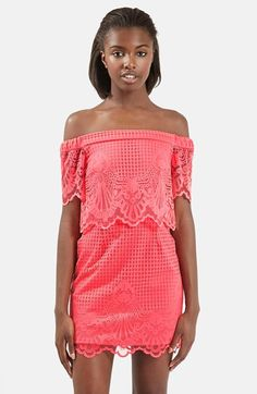 955ce6008a01 Topshop Off the Shoulder Lace Dress (Regular & Petite) available at  #Nordstrom