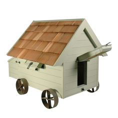 When I have a garden big enough, I am going to get chickens.  And they are going to live in this...