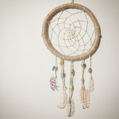 Dreamcatcher using recycled materials.