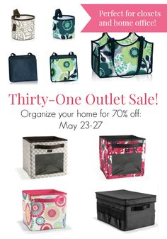 It's time to tackle that messy closet and cluttered desk. Check out the Thirty One Outlet Sale for awesome deals on Your Way junior cubes and Oh-Snap bins and Oh-Snap pockets. Perfect for kids rooms or the family kitchen hub. I need to stock up and finally organize my home office!