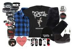 """""""My Chemical Romance"""" by bandsvansandsodacans ❤ liked on Polyvore featuring Woolrich, Pierre Balmain and Vans"""