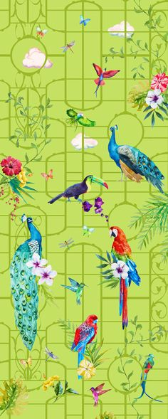 Creative Kids Wallpaper, Hand painted Wallpaper, beautiful Walls