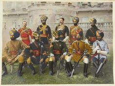 Group of Indian Officers for the opening of the Imperial Institute 1893