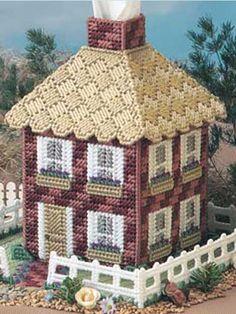 Plastic Canvas - Tissue Topper Patterns - Boutique-Style Patterns - Picket-Fence Cottage