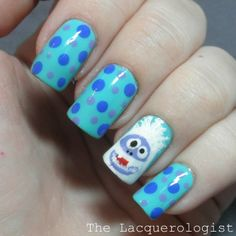 The Lacquerologist: Holiday Nail Art: The Bumble!!