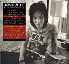 """Joan Jett - Recorded & Booked (Vinyl, 7"""", Limited Edition)    https://www.hurricanerecords.de/index.php?cPath=31&search_word=Record+Store+Day&sorting_id=3&manufacturers_id=&search_typ= Recorded Books, Joan Jett, Music Photo, Rock Music, Rock"""