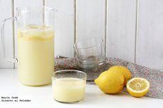 Granizado de limón. Receta con Thermomix