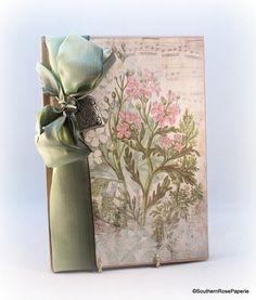Lined Journal, Hardbound, Floral Journal, Personal Diary, Garden Journal, Planting Journal, Dream Journal, Vintage Style Journal, Notebook