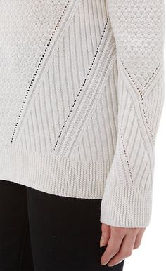 Proenza Schouler Mixed-Knit Oversize Sweater - Crewneck - Barneys.com
