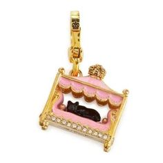 Juicy Couture charm with black cat