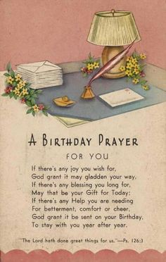 A Birthday Prayer just for You ,wishing you all the best,xxx❤❤❤